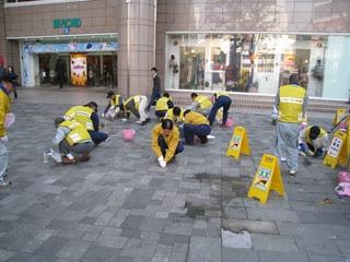 美化ボランティア『ガム剥がし作業』 1.JPG